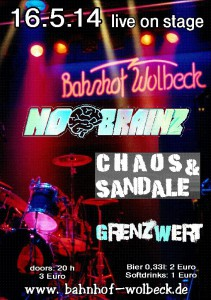 Konzert 16.5.14 Chaos und Sandale
